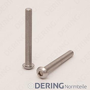 Dering alomado Tornillos con muesca hexagonal iso 7380/Acero Inoxidable A2/ Tornillos de cabeza plana inoxidable 10/unidades