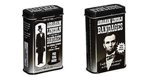 Accoutrements Abraham Lincoln Bandages - 2 Tin