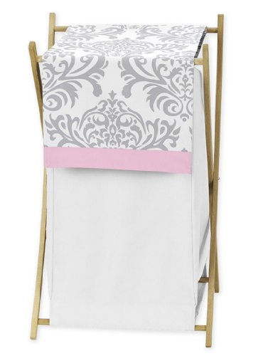 Sweet Jojo Designs Baby/Kids Clothes Laundry Hamper for Pink, Gray and White Elizabeth Bedding
