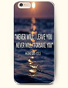 iPhone 6 Case,OOFIT iPhone 6 (4.7) Hard Case **NEW** Case with the Design of never will I leave you never will I forsake you' hebrewws 13:5 - Case for Apple iPhone iPhone 6 (4.7) (2014) Verizon, AT&T Sprint, T-mobile