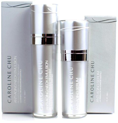 Caroline Chu Anti-Aging Face Serum and Neck Emulsion Duo, 2.7 (Serum Anti Aging Emulsion)