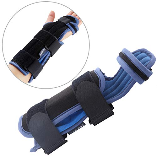 l Wrist Brace - Fits & Hands Medical Support For Sleep, Rigid Stabilizer for Broken & Fractured Bones, Dislocation, Sprains, Strains & Tears, Injury Recovery for Men & Women(Small) ()