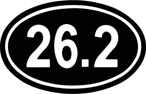26.2 Mile Running Shoes Marathon Endurance Car Window Tumblers Wall Decal Sticker Vinyl Laptops Cellphones Phones Tablets Ipads Helmets Motorcycles Computer Towers V & T Gifts