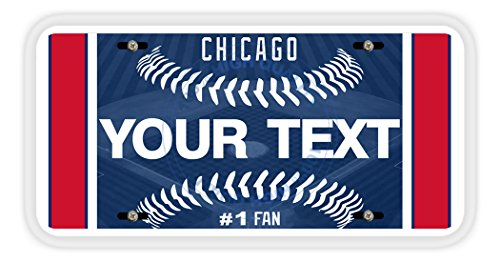 (BleuReign(TM) Personalized Custom Name Baseball Chicago Blue Car Vehicle License Plate Auto Tag)