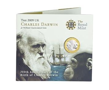 Moneda de 2 libras esterlinas, Charles Darwin: Amazon.es: Hogar