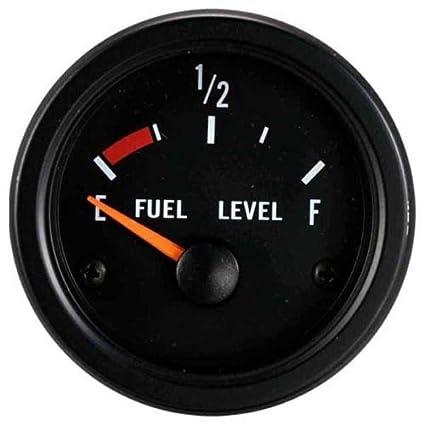 MOTOR METER RACING 2 Fuel Level Gauge Black Dial Stainless Steel
