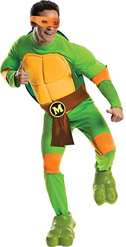 UHC Teenage Mutant Ninja Turtle Michelangelo Deluxe Outfit Halloween Costume, STD (36-40)
