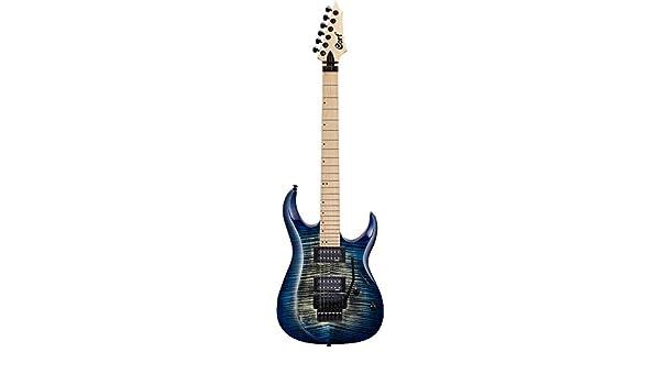 Guitarra electrica cuerpo macizo Cort X300 BLB: Amazon.es: Instrumentos musicales