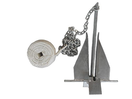 (Deluxe Portable 8.5 lb Fluke Style Anchor Kit for 15' - 24' Boat by MarineNow)