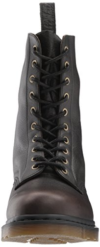 Harvest Martens Mens 10 1490 Leather Dr Boots Black Rugged Eye YO6xwSn