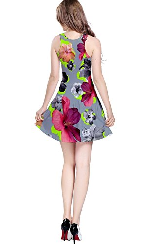 CowCow - Vestido - para mujer Red Lillies