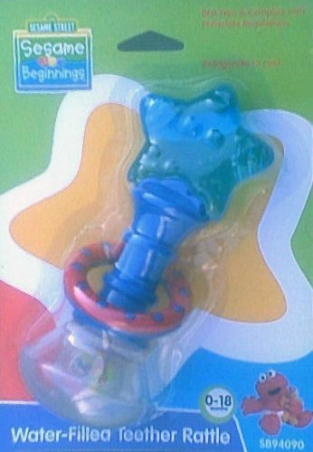 Water-filled Teether Rattle - BPA Free (Colors Vary) [parallel import goods] by Sesame Street
