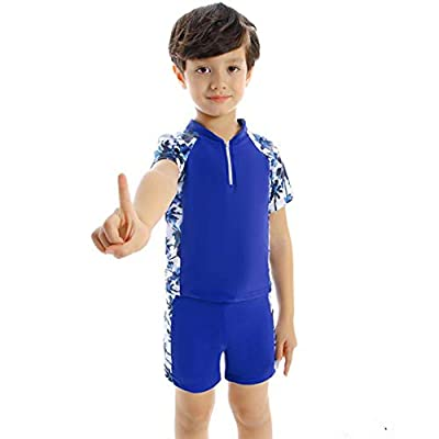 Blue Coconut Tree Family Matching Swimsuit for Dad Mom Son Daughter, Family Matching Swimwear Set: Clothing