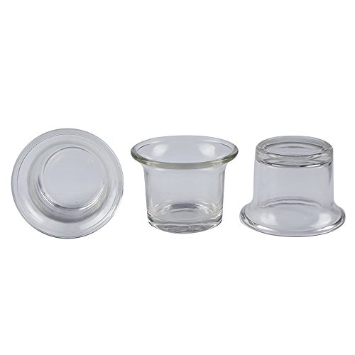 Clear Chunky Glass Lip Votive Candle Holders Tealight Votive Cups For Wedding Proposal, Spa, Aromatherapy, Meditation, 6 Counts By Shxstore by Shxstore (Image #2)