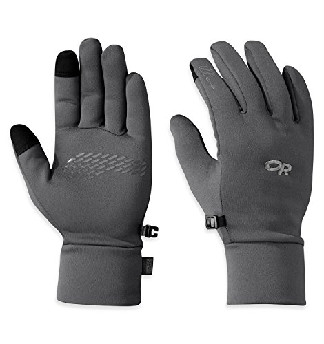 Outdoor Research Men's PL 100 Sensor Gloves, Charcoal Heather, Medium