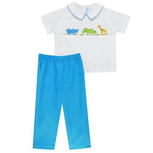 [Zoo Smocked Boys Pull on Pant Set] (Smocked Zoo)