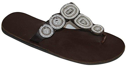 Aspiga - Sandalias de Piel para mujer blanco blanco 37