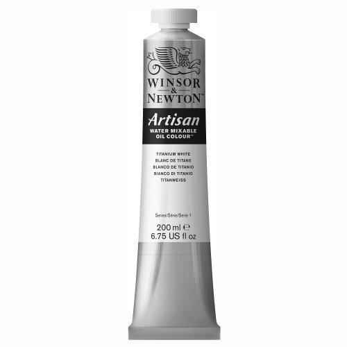 - Winsor & Newton Artisan Water Mixable Oil Color, 200ml, Titanium White by Winsor & Newton