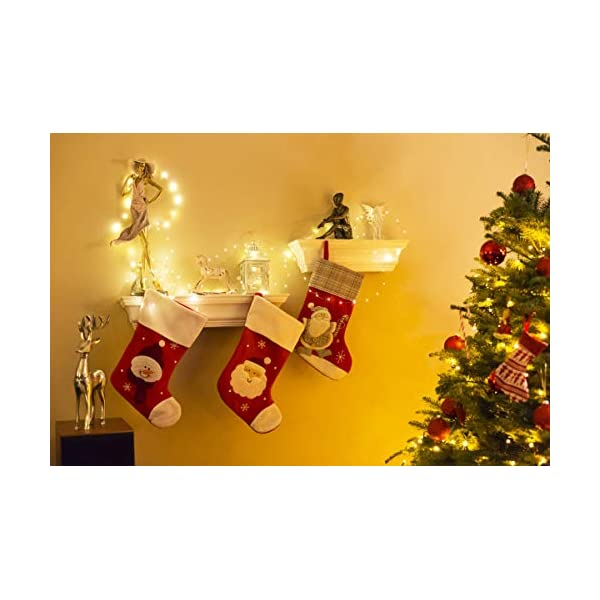 Kolpop Stringa Luci LED a Batteria [4 Pezzi], Catena Luminosa 5m 50 LED con Filo Rame Ghirlanda Luminosa Lucine LED Decorative per Camere da Letto Giardino Casa Feste Natale Matrimonio (Bianco Caldo) 3 spesavip