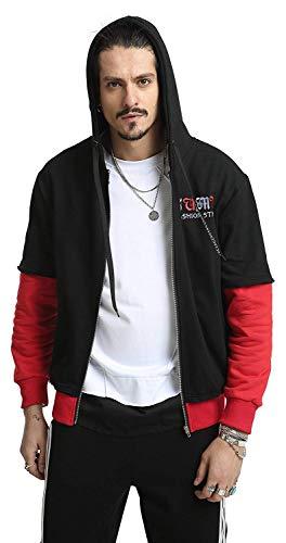 Design Taglie Con Cappotto Giacche Hip Ah032 Capispalla Ricamo Cappuccio Comode Hop Abiti Unisex Contrast P1Z1nW
