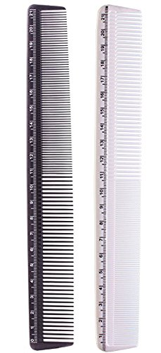 Cutting Styling Measure Combs black White