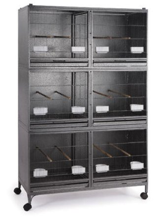 Mcage Extra Large Stackable Breeding Cage with Central Divider for Canaries Finches Budgies Parakeets Cockatiels