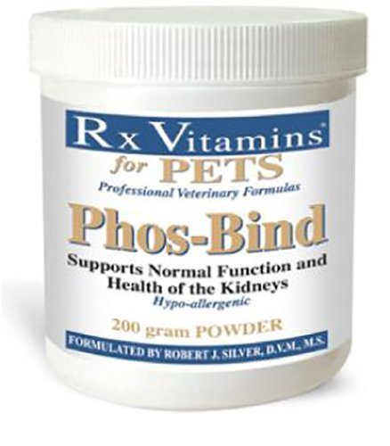 Rx Vitamins for Pets Phos-Bind for Dogs & Cats - Supports Normal Function & Health of Kidneys - Hypoallergenic - 200g Powder by Rx Vitamins