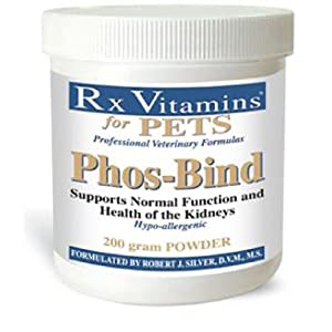 Rx Vitamins for Pets Phos-Bind for Dogs & Cats – Supports Normal Function & Health of Kidneys – Hypoallergenic – 200g Powder