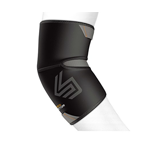 Shock Doctor Elbow Compression Sleeve with Extended Coverage (Black, XX-Large)