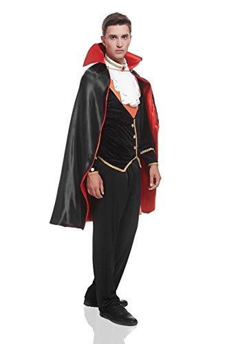 adult men victorian vampire halloween costume count dracula - Halloween Costumes Victorian