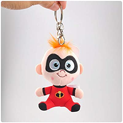 Best Quality - Plush Keychains - The Incredibles 2 Plush Keychain Doll Baby Jack Stuffed Animal Plush Toy Kids Baby Christmas Gift 10cm - by NEWSTARWAR - 1 PCs: Office Products