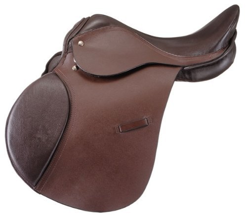- Manaal Enterprises All Purpose Premium Leather Jumping English Riding Horse Saddle Tack, Size 14