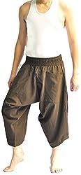 THS Mens Baggy Yoga Hippie Boho Aladdin Alibaba Harem Pants One Size Handmade