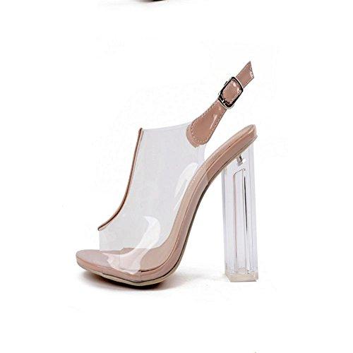 Bandage Comfort Femminili Sandali toe Mzg Dew Champagne Con Semplici qxYvUnwR06
