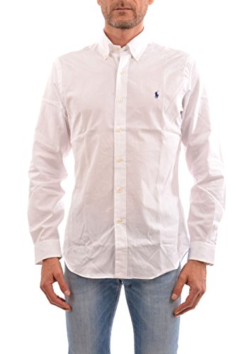 Polo Ralph Lauren Men Slim Fit Poplin Sport Shirt, White, L