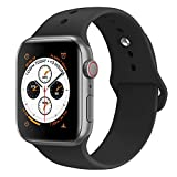 AdMaster Sport Band for Apple Watch 44mm 40mm 42mm 38mm, Soft Silicone Strap Replacement iWatch Bands for Apple Watch Sport,Series 4, Series 3, Series 2, Series 1 S/M M/L: more info