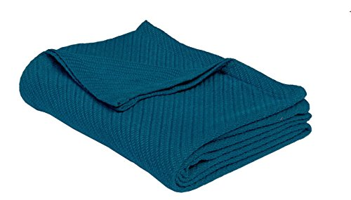 Cotton Craft - 100% Soft Premium Cotton Thermal Blanket - Full/Queen Teal - Snuggle in these Super Soft Cozy Cotton Blankets - Perfect for Layering any Bed - Provides Comfort (Halloween Home Crafts)