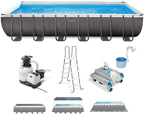 Reviewed: Intex 26363EH Ultra XTR 24ft x 12ft x 52in Frame Above Ground Rectangular Swimming Pool