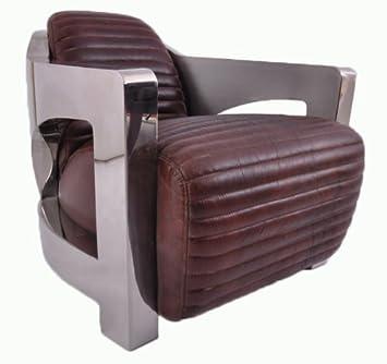 Design Clubsessel Clifford Chrom Und Vintage Leder Echtleder Sessel
