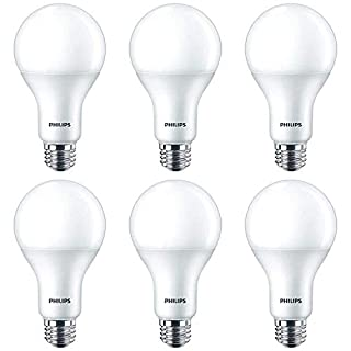 Philips LED Dimmable A21 Light Bulb with Warm Glow Effect 1600-Lumen, 2200-2700 Kelvin, 16 (100-Watt Equivalent), E26 Base, Frosted, Soft White, 6-Pack