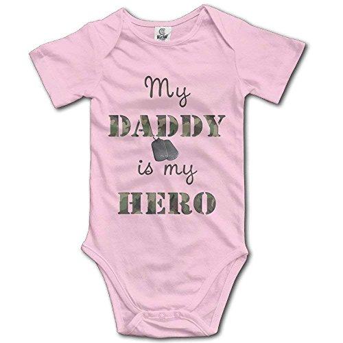 MY DADDY IS MY HERO Infant Baby Short Sleeves Onesies -