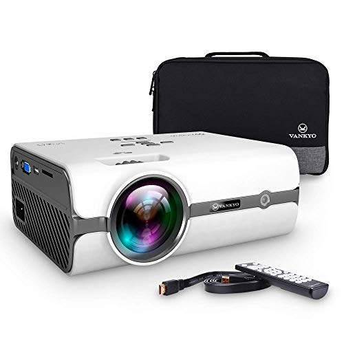 VANKYO Leisure 410 LED Projector with 2800 Lux, Carrying Bag and HDMI Cable, Portable Projector Supports 1080P, HDMI, USB, VGA, AV, SD Card, Compatible with PS3/PS4, Xbox (Best Travel Projector 2019)
