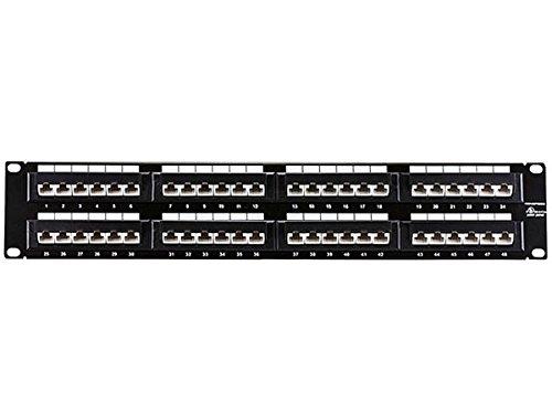 Monoprice Cat5 Enhanced 45 Degree Patch Panel 48P (568A/B Compatible) 107258