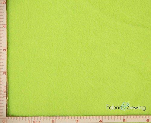 Neon Lime Green Anti-Pill Polar Fleece Fabric Polyester 13 Oz 58-60