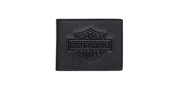 Harley-Davidson® - Cartera para hombre de piel Hombre negro negro Talla única: Amazon.es: Ropa y accesorios
