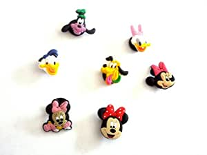 7 pc Set # 1 of Shoe Charms Mickey Friends