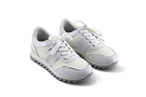 Modelisa - Zapatillas Plataforma Mujer Blanco