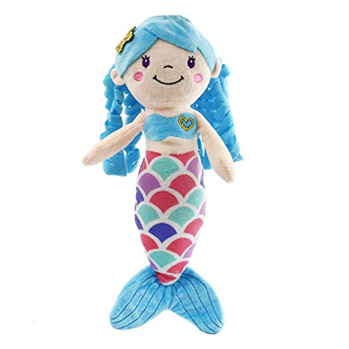 Athoinsu Mermaid Princess Stuffed Plush Doll, 12'' (Blue) ()