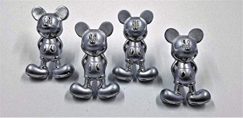 4 Mickey Mouse Drawer Pulls - Zinc Alloy - Cabinet Knobs