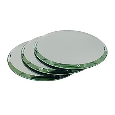 Set of 3 Beveled Round Mirrors for Your Crystal Figurines and Other Collectibles